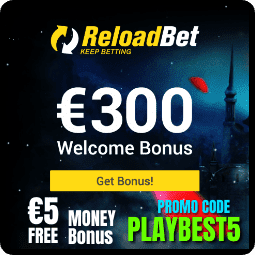 Cash Bonus 5 € in ReloadBet Casino is in the picture.