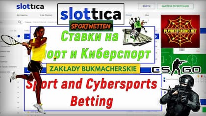 Betting on Sports (eSports) at Slottica Casino! 50FS Bonus!