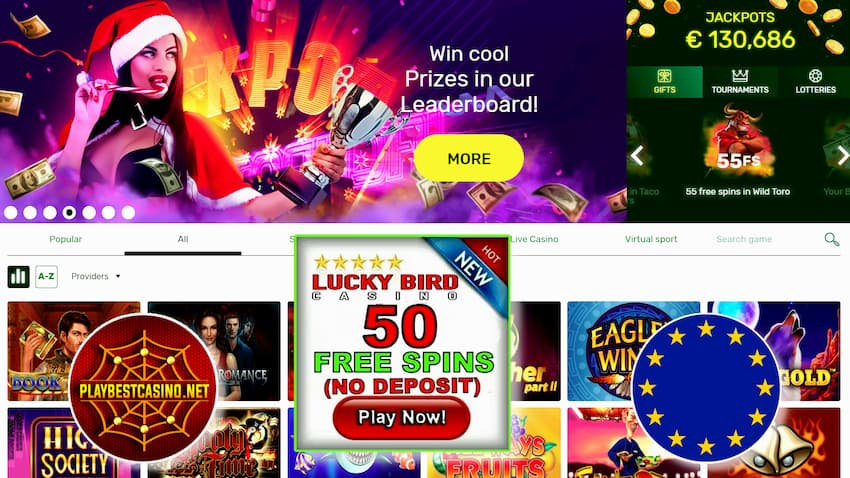 Lucky Bird Casino Bonuses and free spins can be seen here.