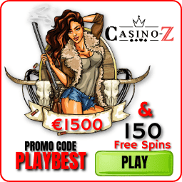 Deposit bonus up to € 1500 and 150 free spins Casino-Z there is a photo.