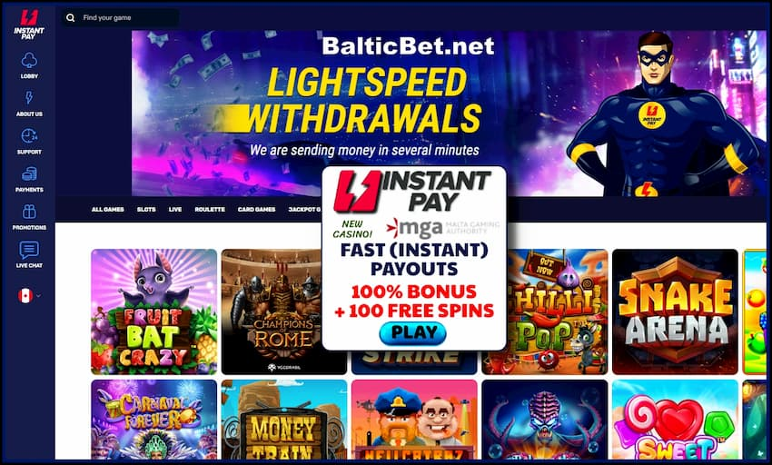 InstantPay Casino Review (2020) Instant Payouts + Bonus! is in the photo.