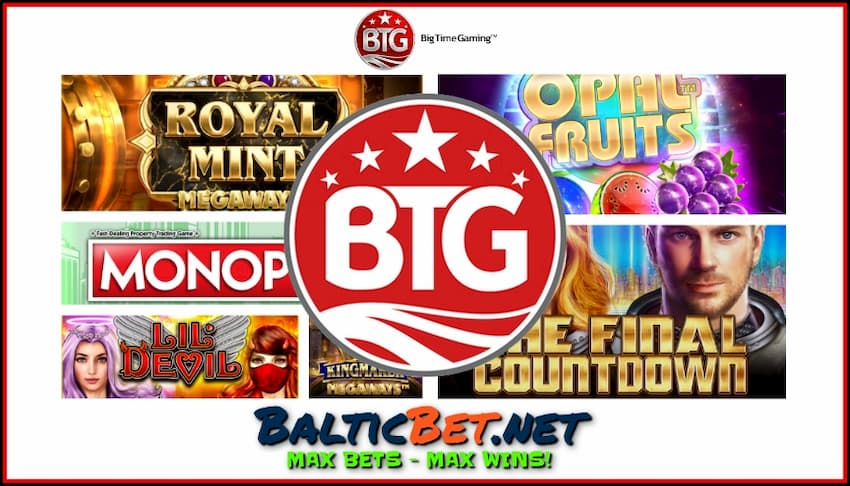 Big Time Gaming (BTG) The best MEGAWAYS Games 2020 are in the photo.