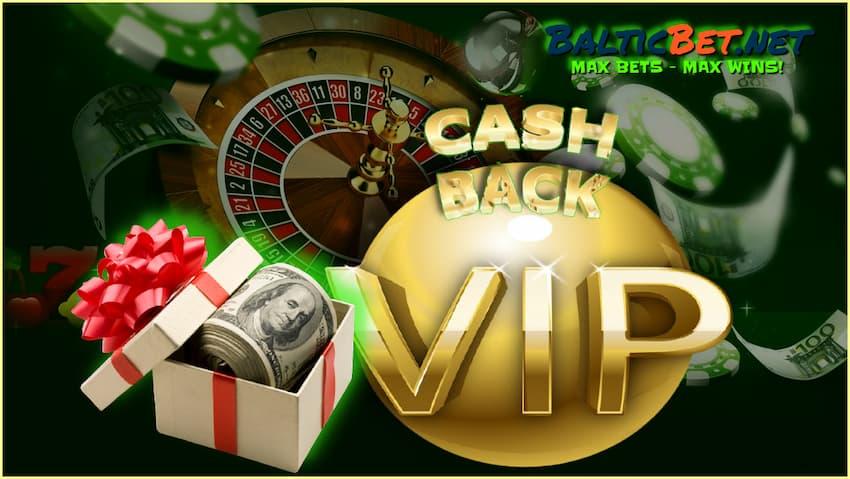 Vip Кешбэк для игроков казино на портале BalticBet.net есть на фото.